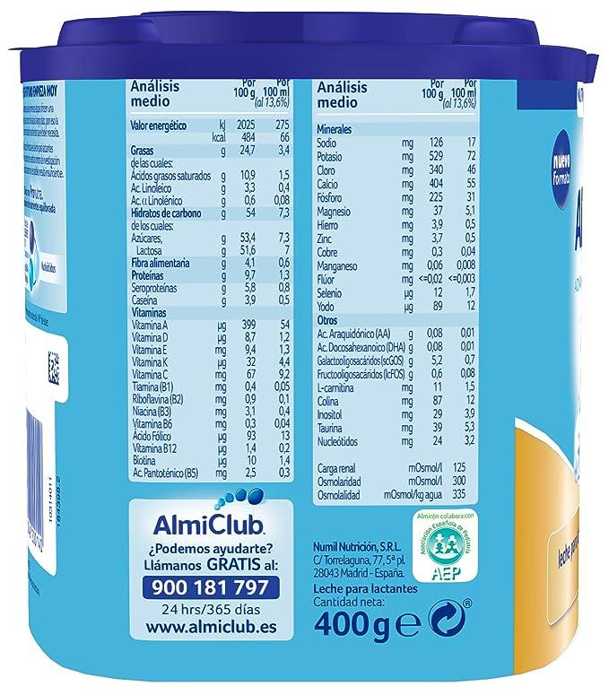 Almirón Advance con Pronutra 1 Leche de inicio en polvo a partir del primer día - 400 g: Amazon.es: Amazon Pantry