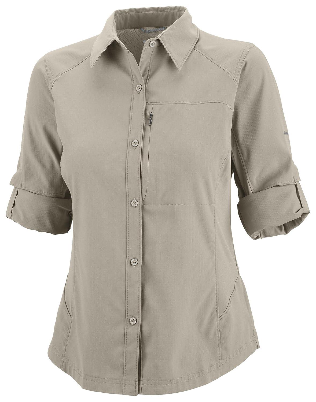Sleeve ShirtNylonBeigefossilTaille XlAl7079 Longues Long Columbia De Chemise Manches FemmeSilver À Ridge Randonnée strdQCh