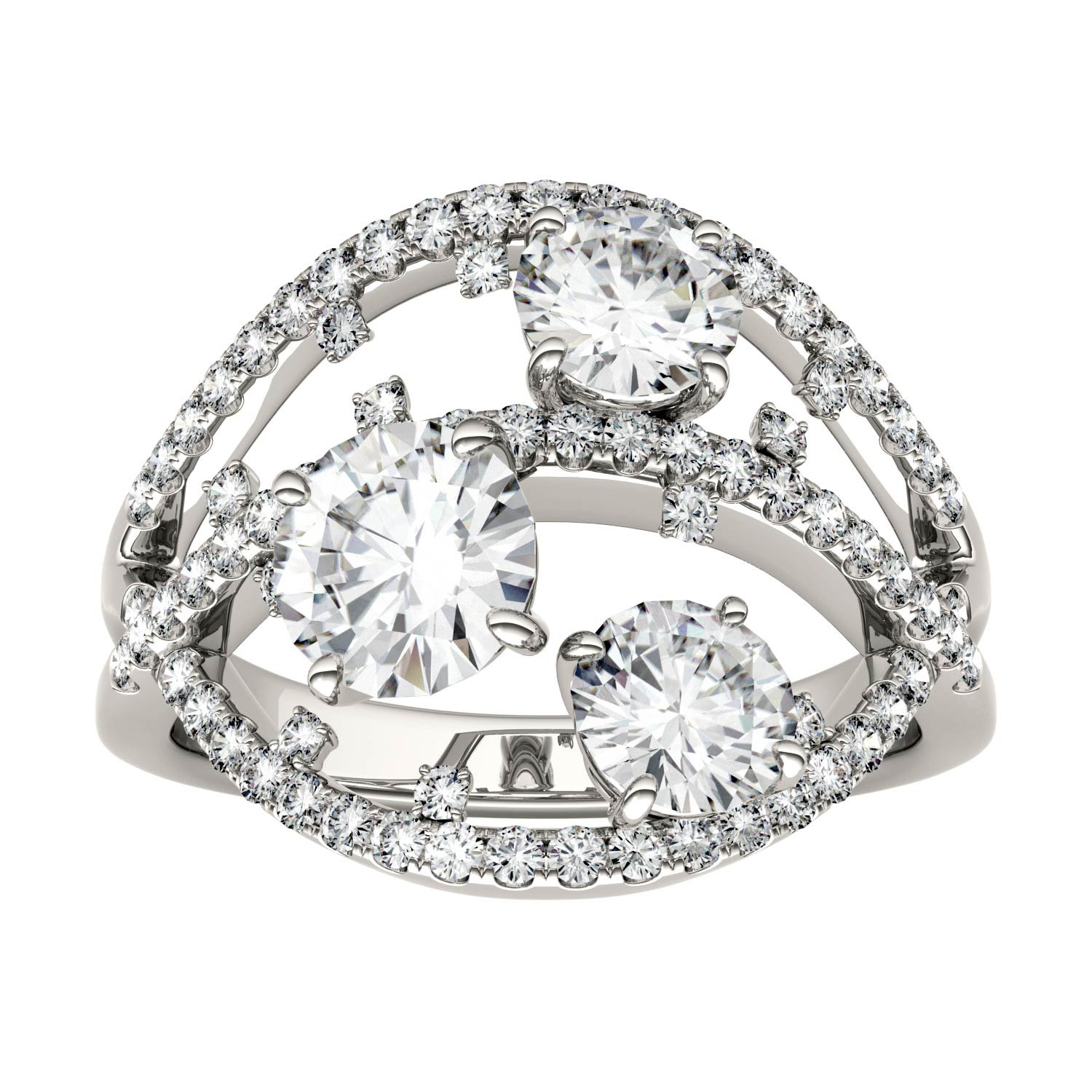 Forever Brilliant Round 6.0mm Moissanite Ring-size 9, 2.56cttw DEW By Charles & Colvard