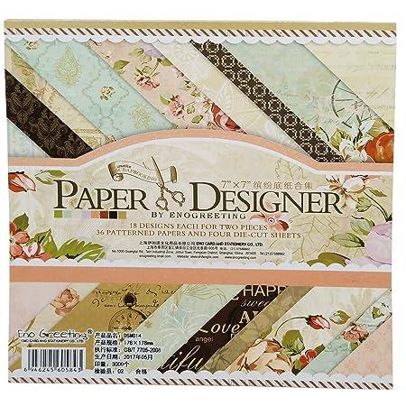 Gnognauq Wedding Letter Stationary Scrapbook Paper Pack Digital Scrapbooking Background Papers DesignDIY Handmade