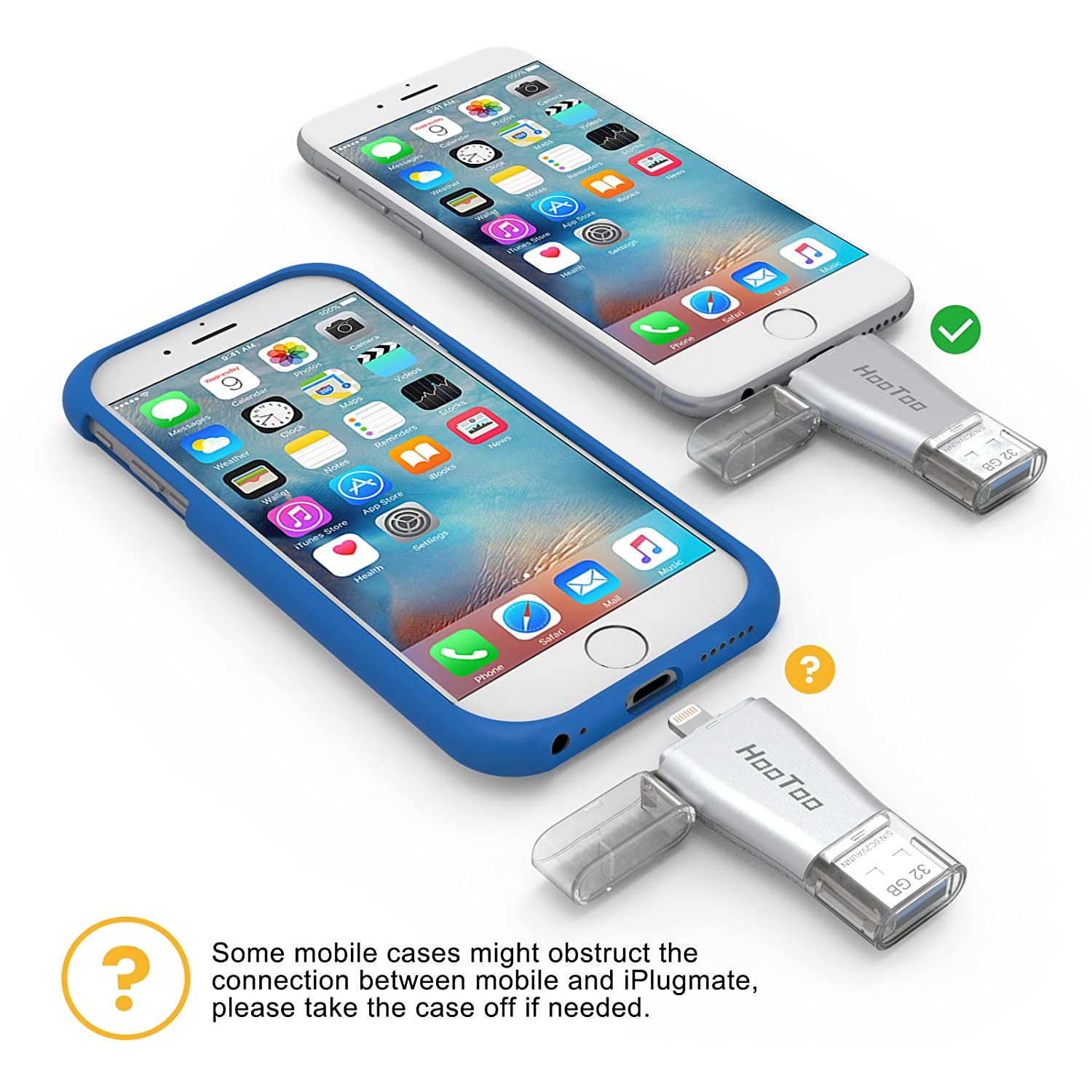 Flash Drive iPhone HooToo connettore Lightning e USB 3.0, 32 GB per Dispositivi iPhone, iPad, MacBook, Computer, Laptop
