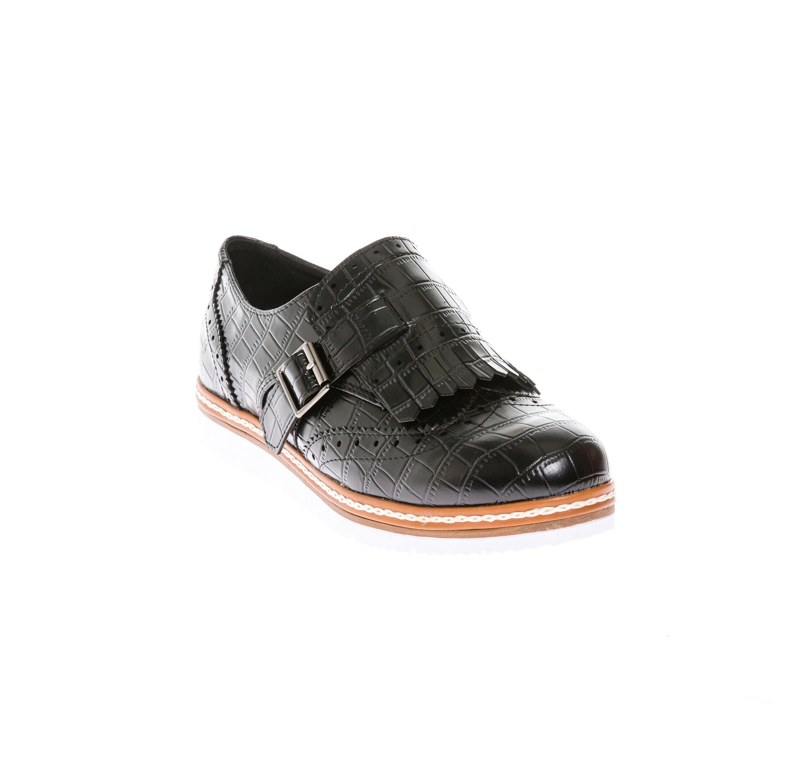CALICO KIKI Women's Casual Oxford Comfort Flat Shoes (9 US Black)