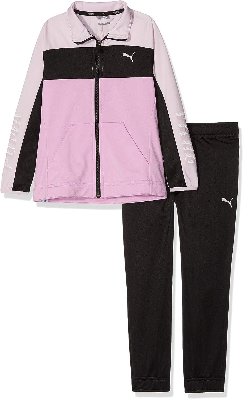 Puma Graphic Poly Suit g Chándal, Niñas, 851844, Puma Black, 128 ...