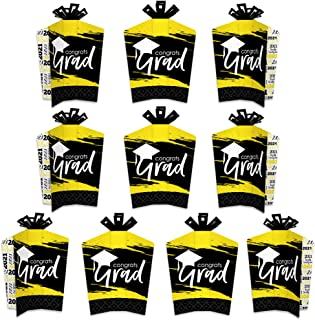 product image for Big Dot of Happiness Yellow Grad - Best is Yet to Come - Table Decorations - 2021 Yellow Graduation Party Fold and Flare Centerpieces - 10 Count