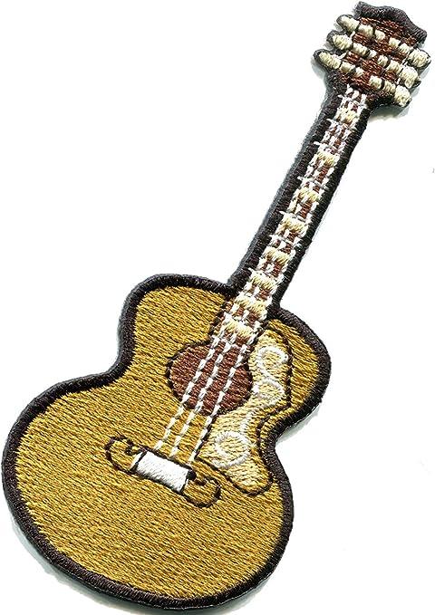 Guitarra acústica flamenco instrumento musical bordado apliques de ...