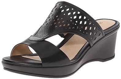 Naturalizer Women's Viola Wedge Slide Sandal, Black, ...