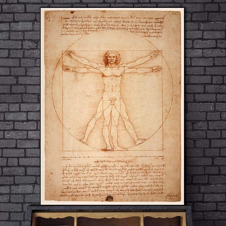 GUDOJK Wandgemälde Dekoratives Plakat Der vitruvianische