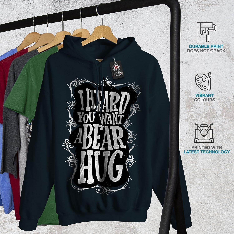 5e574c4d377 Amazon.com  wellcoda Heard You Bear Hug Funny Mens Hoodie