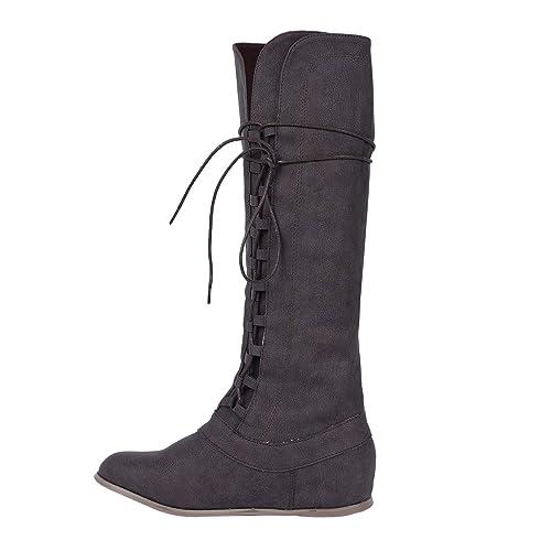 Mittelalterliche Cosplay Stiefel Pommaxe Herren Schuhe Lace jL435qAR