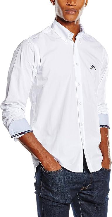 POLO CLUB Camisa Hombre Academy CRO Blanco L: Amazon.es: Ropa y ...