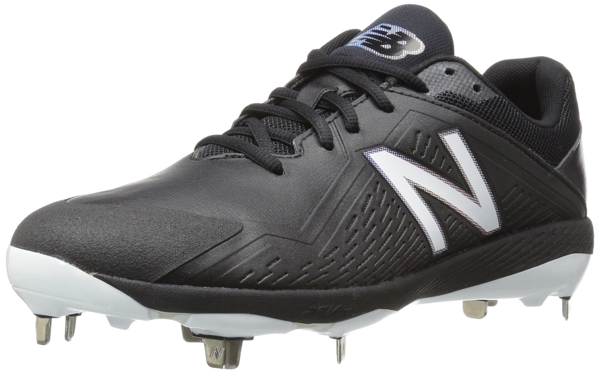New Balance Women's FUSEV1 Metal Fast Pitch Softball Baseball Shoe, Black/White, 7 D US