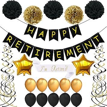 amazon retirementパーティーデコレーションキット retirement party