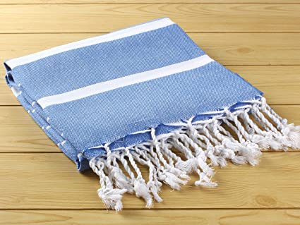 Turco toalla Pestemal mano tejidas Pestemal toalla de baño hammam azul marino