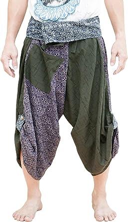 Amazon.com: bohohill Samurai harén pantalones índigo Dye ...