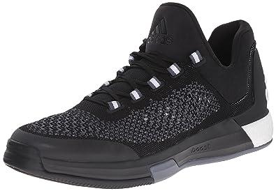 adidas Performance Men's 2015 Crazylight Boost Primeknit Basketball Shoe, BlackBlackGrey,