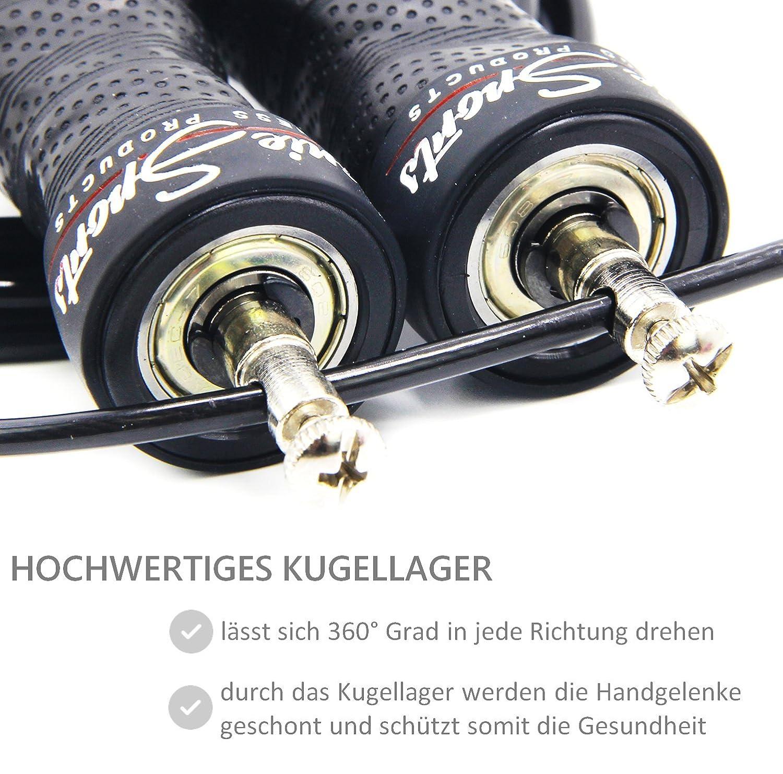 SPRINGSEIL von SPOONIESPORTS® - Hochwertiges Kugellager   Speed Jump ...