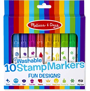 Melissa Doug 10 Washable Stamp Markers Fun Designs