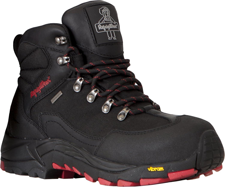 RefrigiWear Women's Black Widow Warm Insulated Waterproof Black Leather Work Boots