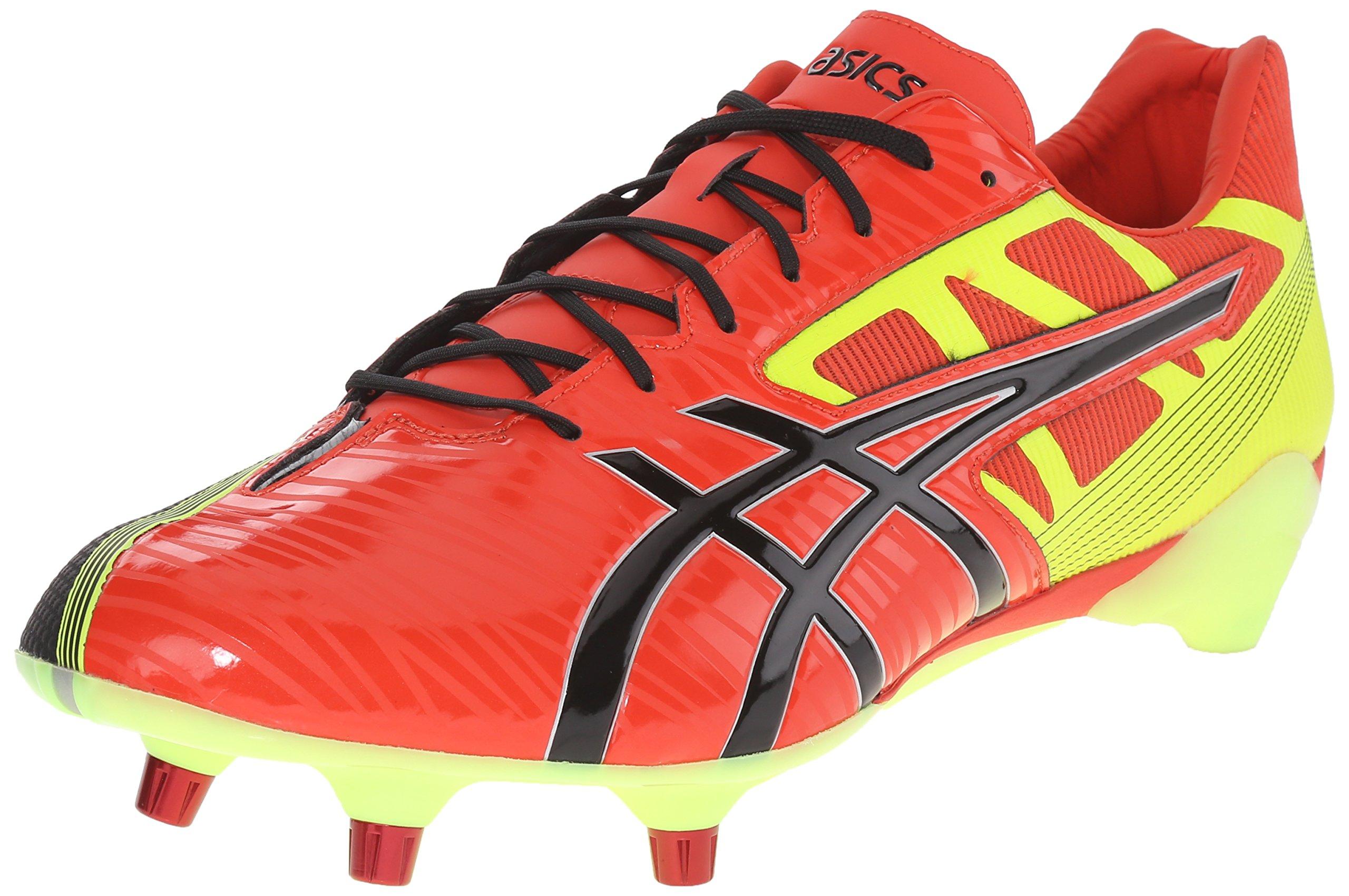 ASICS Men's GEL-Lethal Speed Deep Orange/Black/Flash Yellow Rugby Shoe - 7.5 D(M) US by ASICS