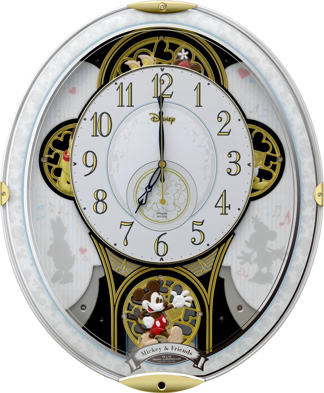 Amazon disney rhythm clock mickey u0026 friends m509 amazon disney rhythm clock mickey u0026 friends m509 radio automaton clock white 4mn509mc03 kitchen dining amipublicfo Choice Image