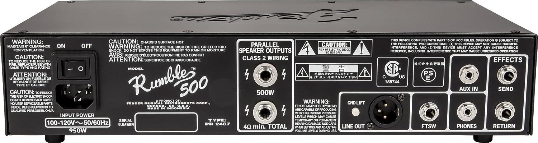 Fender Rumble 500 de cabeza de v3 de cabeza de amplificador ...
