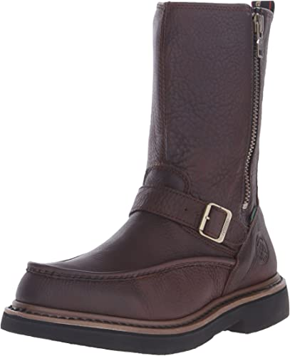 Georgia Mens 10 Pull-On Side Zip Wellington Waterproof Work Boots-G4124