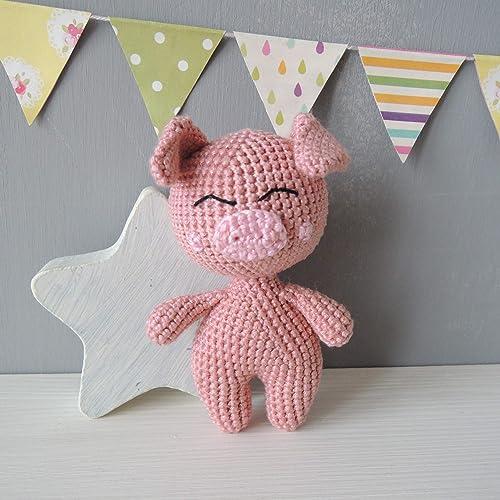 Amazon Stuffed Animal Pig Soft Toy First Birthday Gift For Boy Or Girl Baby Shower Kids Plush Doll Nursery Decor Handmade