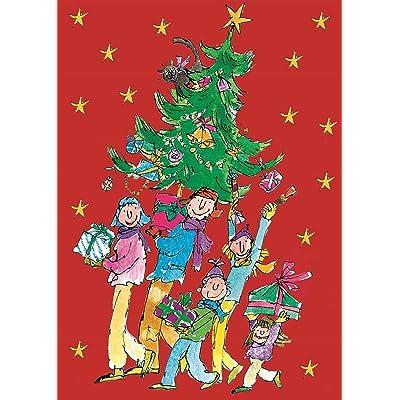 Advent Calendar - Quentin Blake - a glitter Christmas advent calendar by Woodmansterne