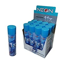 neon 12 Cans of Neon 11x Ultra Refined Butane Fuel Lighter Refill Gas, Blue, Large