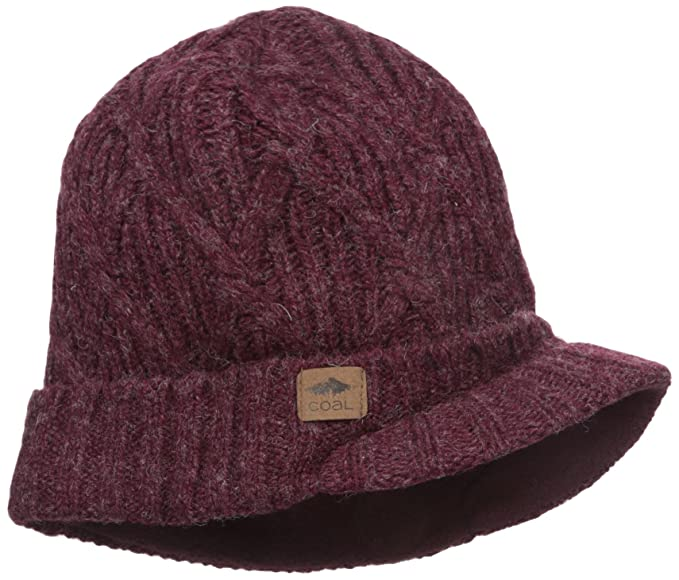 5626332c21 Coal Men s The The Yukon Brim Chunky Knit Warm Beanie Hat Dark Red One  Size  Amazon.ca  Clothing   Accessories