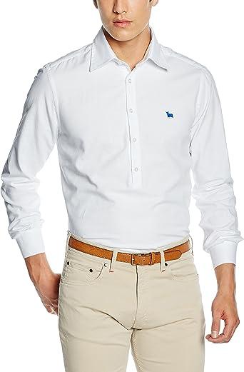 TORO Camisa POLERA M/L Lisa, 1 Blanco, S para Hombre: Amazon.es: Ropa y accesorios