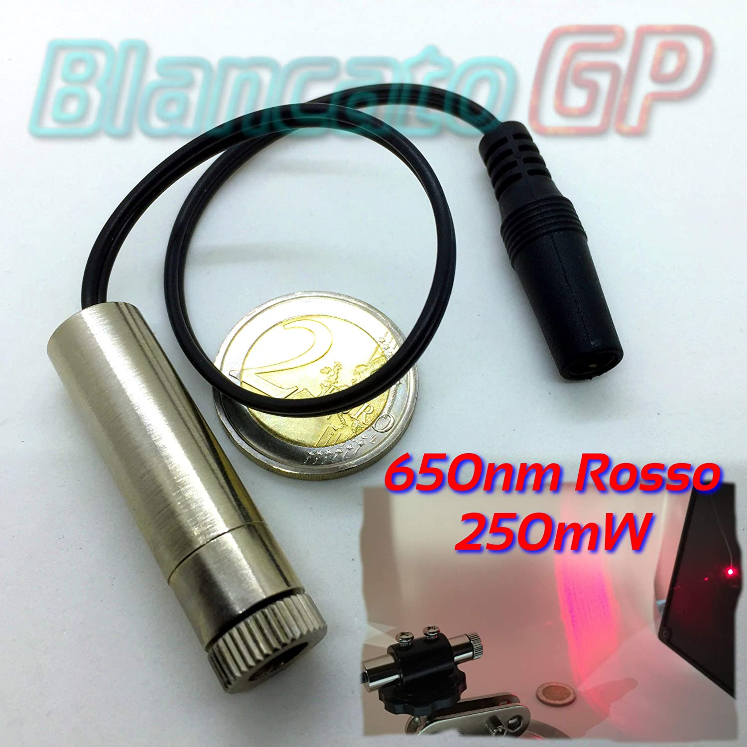Module laser 650 nm 250 mW point rouge dot focusable module diode 3 V 5 V 2.1