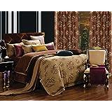 Dolce Mela DM474Q Jacquard Damask Luxury Bedding Duvet Covet Set, Queen