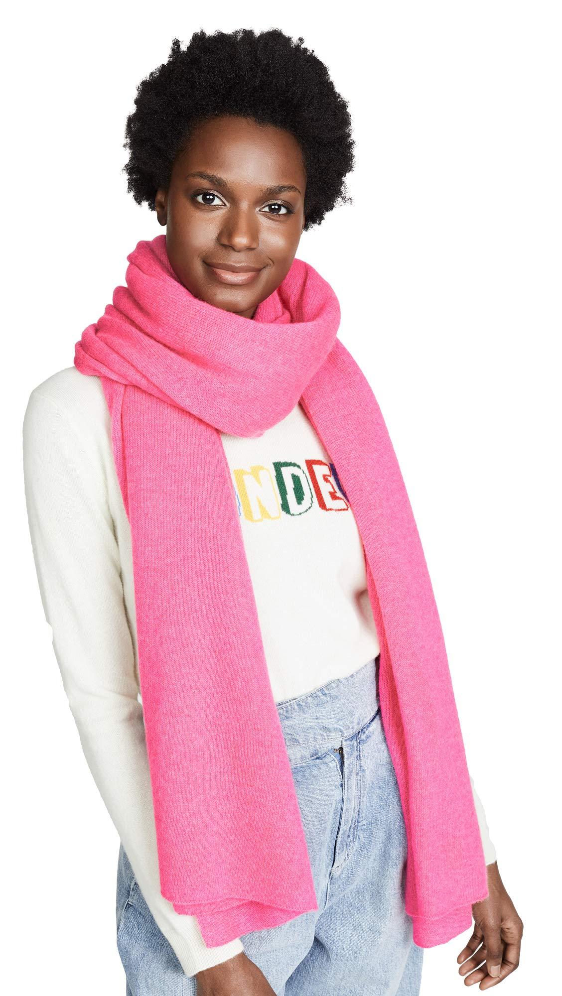 White + Warren Women's Cashmere Travel Wrap Scarf, Pop Pink Heather, One Size