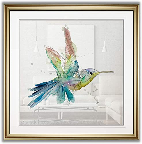 Renditions Gallery Sketchbook Hummingbird H Abstract Artwork Bird Wall Art Framed Colorful Fine Giclee Prints Animal Home Decor Painting