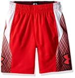 Under Armour Boys Space The Floor Shorts, Red