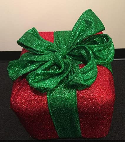 Sparkly christmas gift box ornaments