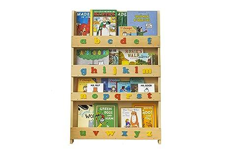 sale retailer c480c 434a8 Tidy Books - Kids Bookshelf | Wood Bookshelf with 3D Color Alphabet |  Bookshelf for Kids - 45.3 x 30.3 x 2.8 in | ECO Friendly | HANDMADE - The  ...