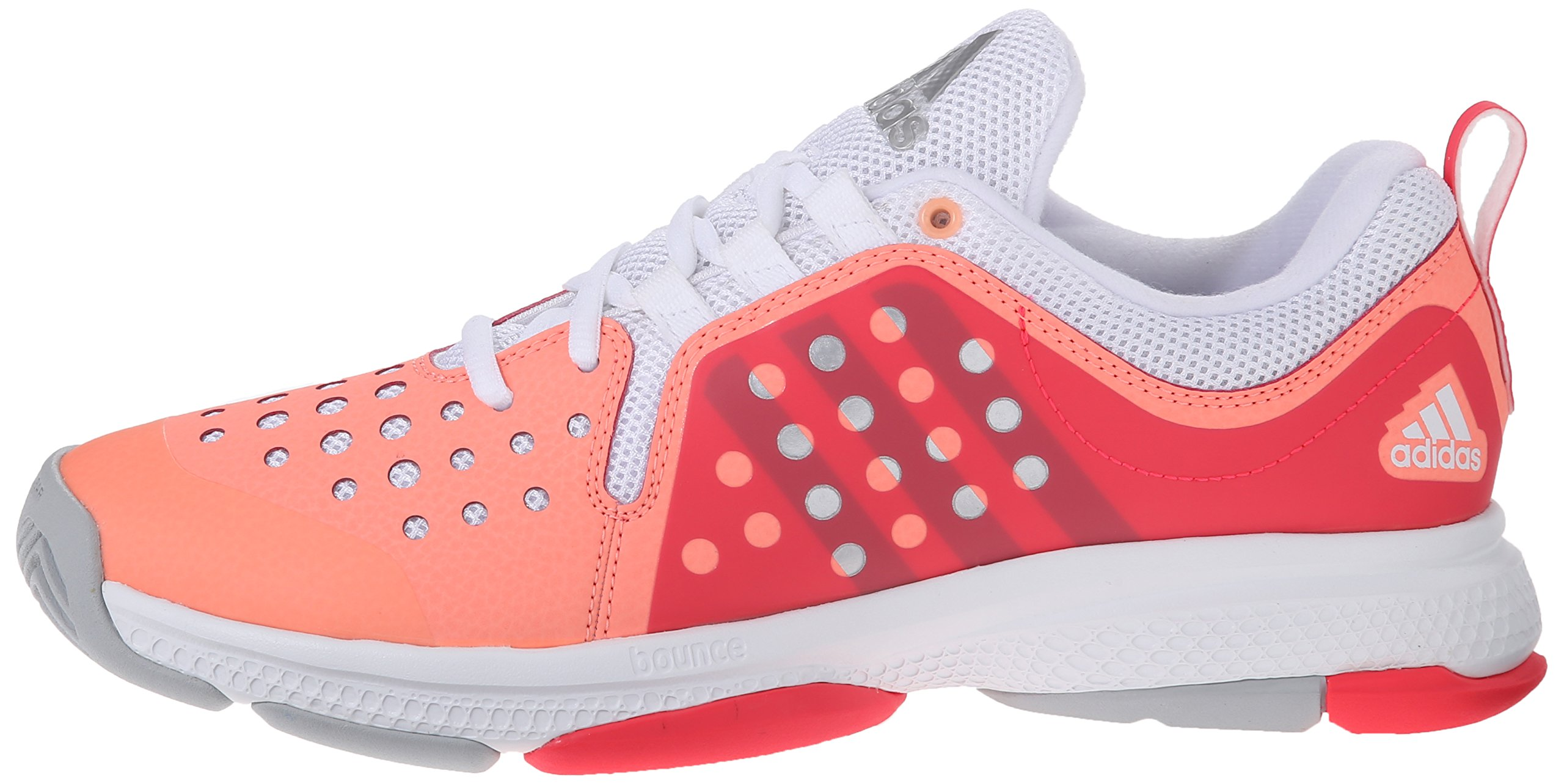 adidas Performance Women's Barricade Classic Bounce W Training Footwear,Sun Glow Yellow/Metallic Silver/Shock Red,9.5 M US by adidas (Image #5)