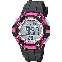 Armitron Sport 45/7108PBK - Reloj digital con cronógrafo y correa de resina, color negro