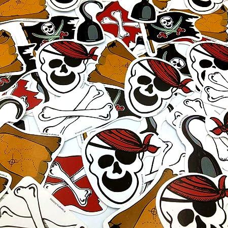 XXL de confeti Piratas * * con 24 grandes piezas de confeti ...
