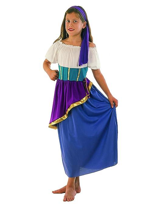 Fiori Paolo 61115 Gitana Gipsy - Disfraz de niña 7-9 anni ...