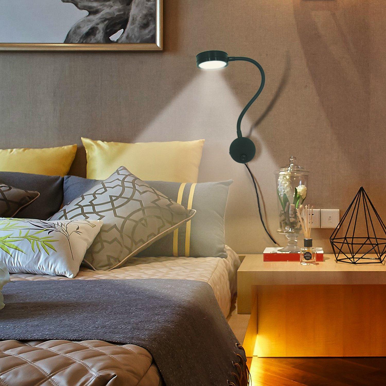 Amazon.com: YuHan enchufe Cable flexible lámpara de pared ...
