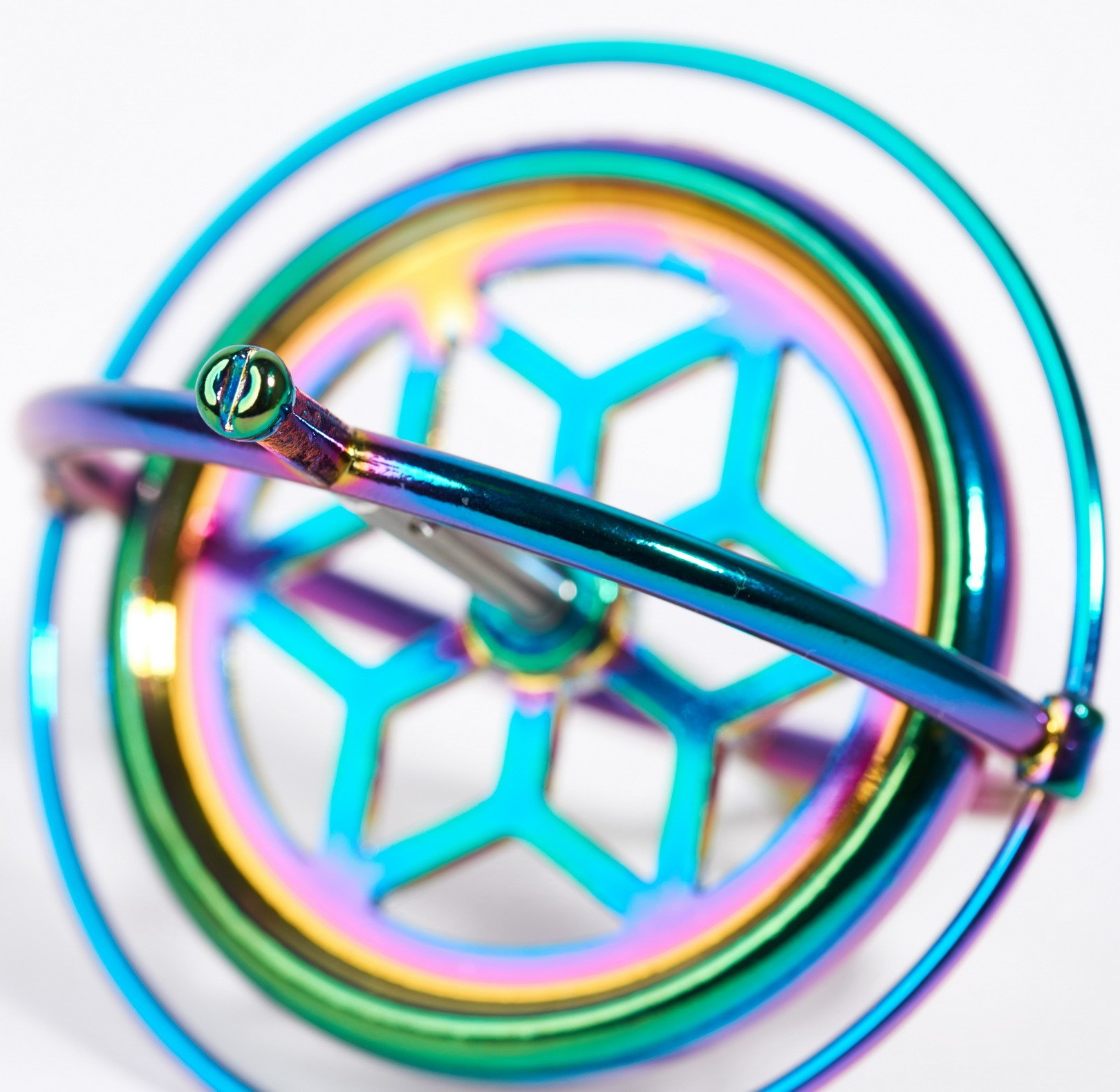 Joytech Precision Gyroscope Kill Time Metal Anti-Gravity Spinner Balance Toy Colorful JA05 by Joytech (Image #6)