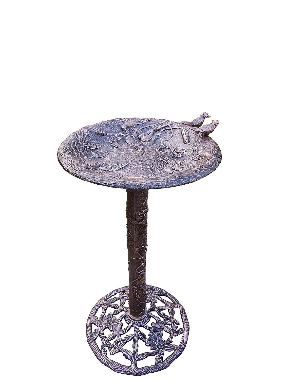 Oakland Living Hummingbird Bird Bath, Antique Bronze