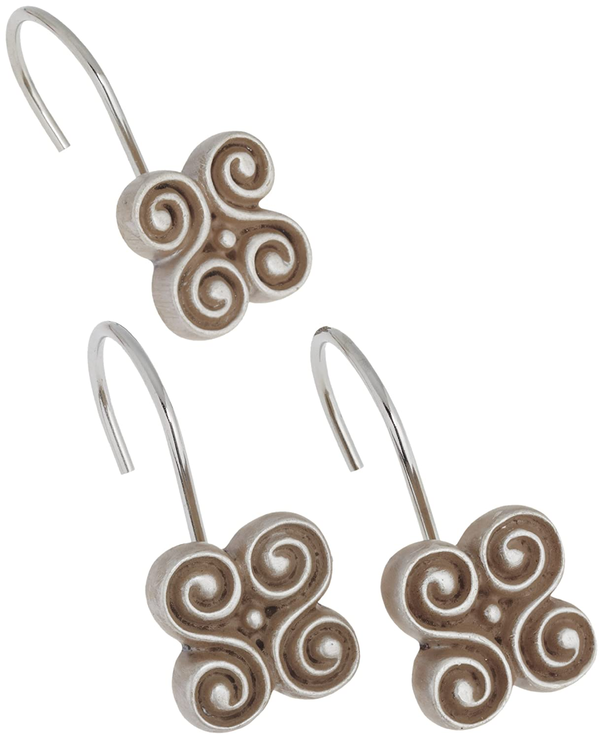 Oil Rubbed Bronze PHP-PM//67 Carnation Home Fashions Piermont Ceramic Resin Shower Curtain Hook