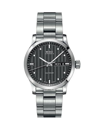 MIDO M0058301106100 - Reloj analógico de caballero automático con correa de acero inoxidable plateada: Amazon.es: Relojes