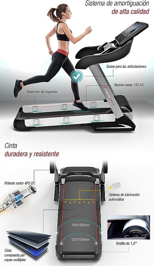 Sportstech F50 Cinta de Correr Profesional inclinable 15% con ...