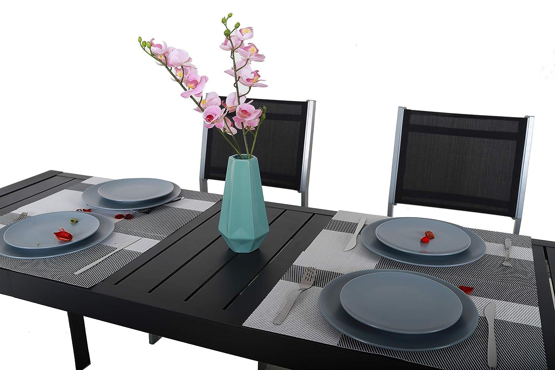 colore nero tavolo allungabile Chicreat