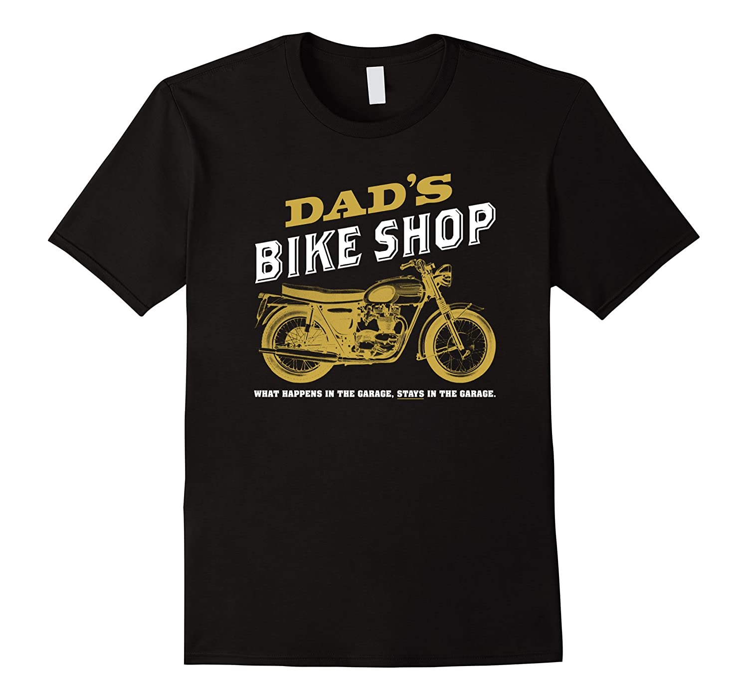 Mens dads bike shop funny motorcycle gear head t shirt for Bike and cycle shoppe shirt